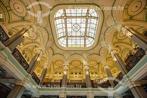 Clarabóia no interior da Biblioteca Nacional (1910)  - Rio de Janeiro - Rio de Janeiro (RJ) - Brasil