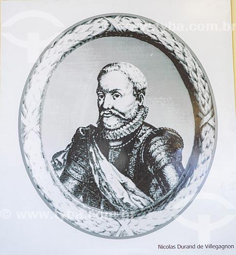 Retrato de Nicolas Durand de Villegagnon - Reprodução do acervo da Escola Naval  - Rio de Janeiro - Rio de Janeiro (RJ) - Brasil