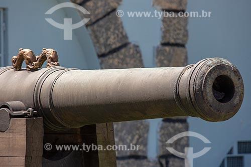 Canhão da antiga Fortaleza de Nossa Senhora da Conceição de Villegagnon - hoje abriga a Escola Naval  - Rio de Janeiro - Rio de Janeiro (RJ) - Brasil