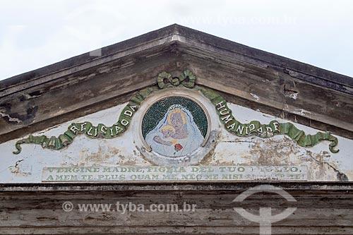 Detalhe de frontão da Igreja Positivista do Brasil (1897) - também conhecido como Templo da Humanidade  - Rio de Janeiro - Rio de Janeiro (RJ) - Brasil