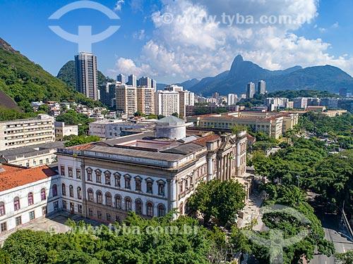 Foto feita com drone do Museu de Ciências da Terra - vinculado ao Departamento Nacional de Produção Mineral  - Rio de Janeiro - Rio de Janeiro (RJ) - Brasil