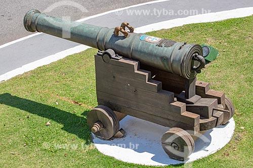 Detalhe de canhão da antiga Fortaleza de Nossa Senhora da Conceição de Villegagnon - hoje abriga a Escola Naval  - Rio de Janeiro - Rio de Janeiro (RJ) - Brasil