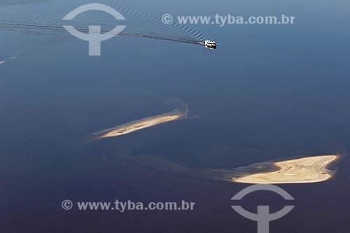 Foto aérea de ilhas no Rio Negro  - Amazonas (AM) - Brasil