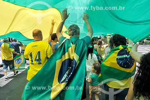 Manifestação em apoio ao candidato à presidência Jair Bolsonaro  - São José do Rio Preto - São Paulo (SP) - Brasil