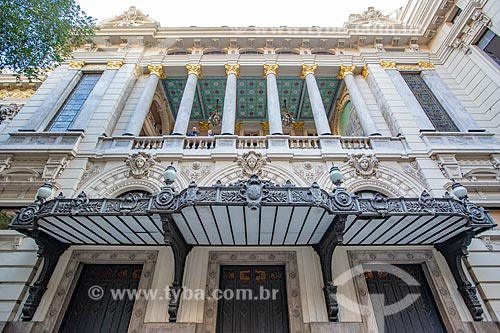 Fachada lateral do Theatro Municipal do Rio de Janeiro (1909)  - Rio de Janeiro - Rio de Janeiro (RJ) - Brasil