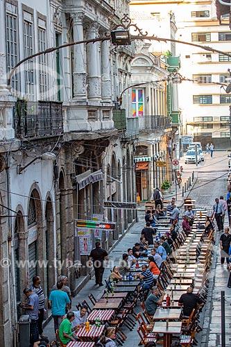 Mesas de bar na Rua do Ouvidor  - Rio de Janeiro - Rio de Janeiro (RJ) - Brasil