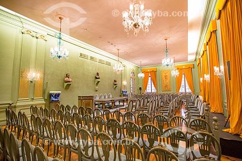 Interior do Salão Nobre da Academia Brasileira de Letras (ABL) - 1922  - Rio de Janeiro - Rio de Janeiro (RJ) - Brasil