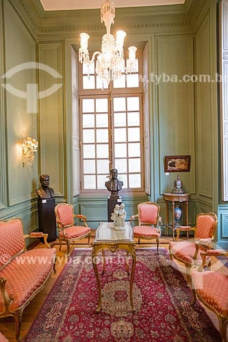 Interior do Salão Francês na Academia Brasileira de Letras (ABL) - 1922  - Rio de Janeiro - Rio de Janeiro (RJ) - Brasil