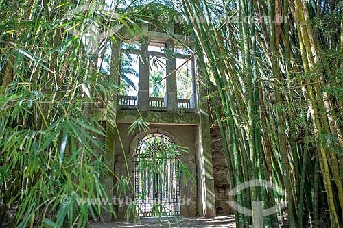 Pórtico da antiga da Academia Imperial de Belas Artes no Jardim Botânico do Rio de Janeiro  - Rio de Janeiro - Rio de Janeiro (RJ) - Brasil