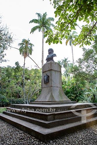 Busto de Dom João VI (século XIX) no Jardim Botânico do Rio de Janeiro  - Rio de Janeiro - Rio de Janeiro (RJ) - Brasil