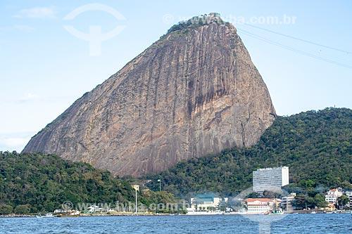 Vista do Pão de Açúcar a partir da Baía de Guanabara  - Rio de Janeiro - Rio de Janeiro (RJ) - Brasil