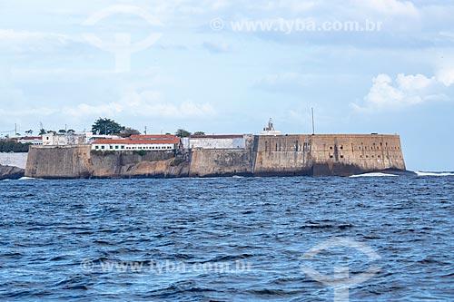 Vista da Fortaleza de Santa Cruz da Barra (1612) a partir da Baía de Guanabara  - Niterói - Rio de Janeiro (RJ) - Brasil