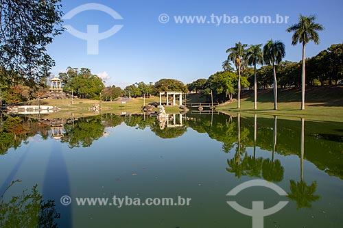 Vista do lago no Parque da Quinta da Boa Vista  - Rio de Janeiro - Rio de Janeiro (RJ) - Brasil