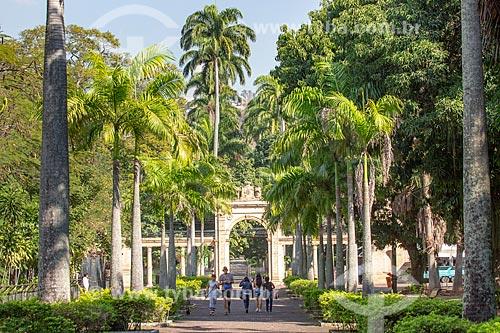 Portal de entrada do Jardim Zoológico do Rio de Janeiro no Parque da Quinta da Boa Vista  - Rio de Janeiro - Rio de Janeiro (RJ) - Brasil