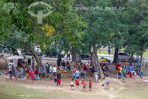 Crianças brincando no Parque da Quinta da Boa Vista  - Rio de Janeiro - Rio de Janeiro (RJ) - Brasil