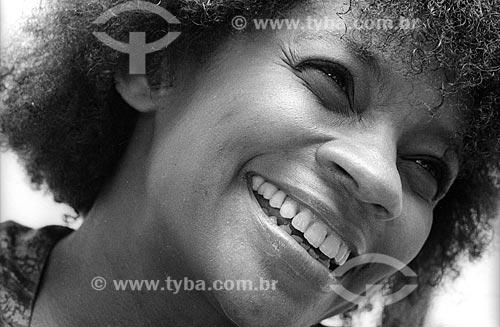 Detalhe da atriz Zezé Motta - década de 80  - Rio de Janeiro - Rio de Janeiro (RJ) - Brasil