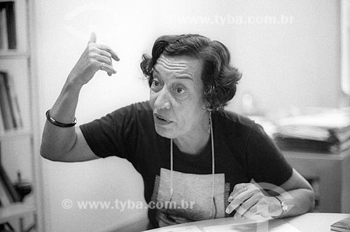 Detalhe da economista Maria da Conceição Tavares - década de 80  - Rio de Janeiro - Rio de Janeiro (RJ) - Brasil