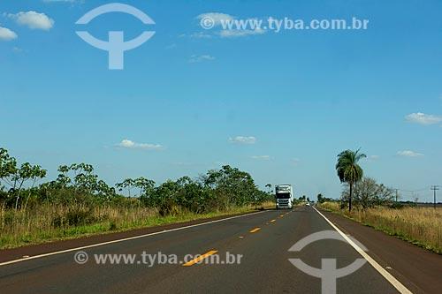 Trecho da Rodovia BR-060 próximo à Sidrolândia  - Sidrolândia - Mato Grosso do Sul (MS) - Brasil