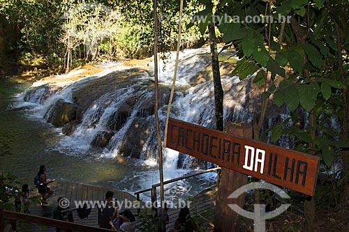 Cachoeira da Ilha na Serra da Bodoquena  - Bodoquena - Mato Grosso do Sul (MS) - Brasil