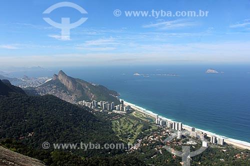 Vista do Praia de São Conrado durante trilha no Parque Nacional da Tijuca  - Rio de Janeiro - Rio de Janeiro (RJ) - Brasil