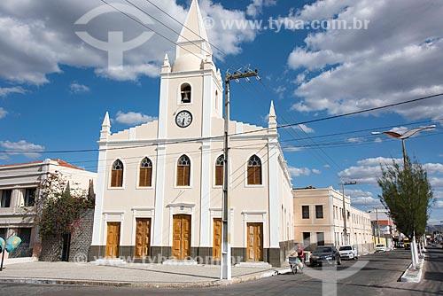 Fachada da Igreja do Sagrado Coração de Jesus (1784)  - Quixadá - Ceará (CE) - Brasil
