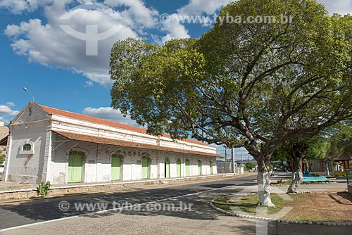 Vista da antiga Estação Ferroviária da Estrada de Ferro Baturité (1891)  - Quixadá - Ceará (CE) - Brasil