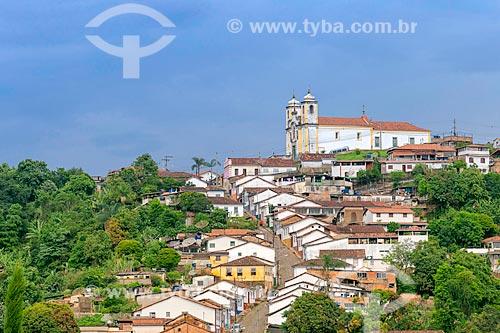 Ladeira com a Igreja Matriz de Santa Efigênia (1785)  - Ouro Preto - Minas Gerais (MG) - Brasil