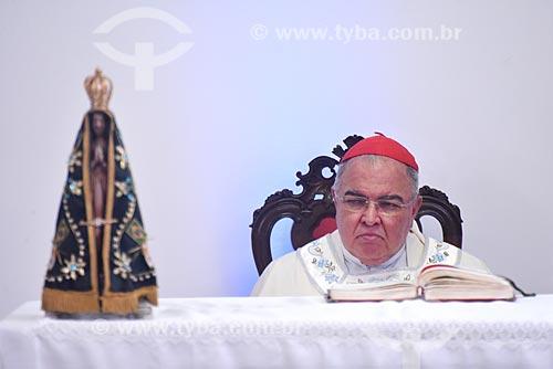 Dom Orani João Tempesta - arcebispo do Rio de Janeiro - durante a solenidade pelos 87 anos do Cristo Redentor  - Rio de Janeiro - Rio de Janeiro (RJ) - Brasil