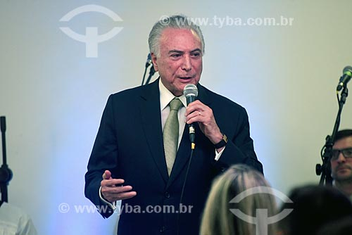 Presidente Michel Temer durante a solenidade pelos 87 anos do Cristo Redentor  - Rio de Janeiro - Rio de Janeiro (RJ) - Brasil