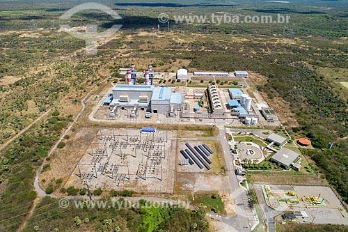 Foto feita com drone de usina termelétrica  - parte do Complexo Industrial e Portuário do Pecém  - Caucaia - Ceará (CE) - Brasil