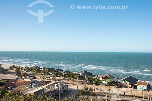 Vista geral da orla da Praia de Morro Branco  - Beberibe - Ceará (CE) - Brasil