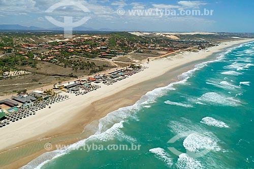 Foto feita com drone de quiosques na orla da Prainha  - Aquiraz - Ceará (CE) - Brasil