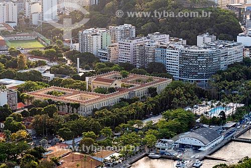 Vista do Campus Praia Vermelha da Universidade Federal do Rio de Janeiro a partir do mirante do Morro da Urca no Pão de Açúcar  - Rio de Janeiro - Rio de Janeiro (RJ) - Brasil