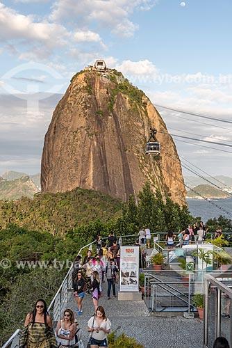 Vista do Pão de Açúcar a partir da Estação do bondinho do Morro da Urca  - Rio de Janeiro - Rio de Janeiro (RJ) - Brasil