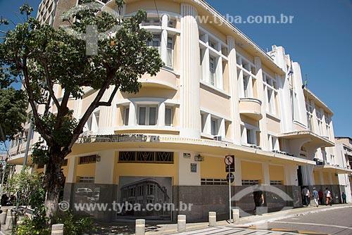 Fachada do prédio da Secretaria de Finanças da Prefeitura da cidade do Fortaleza em estilo art déco  - Fortaleza - Ceará (CE) - Brasil
