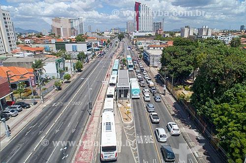 Foto feita com drone do corredor do Expresso Fortaleza na Avenida Bezerra de Menezes  - Fortaleza - Ceará (CE) - Brasil