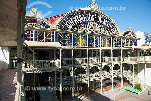 Vista da fachada interna do Teatro José de Alencar (1910) a partir do pátio  - Fortaleza - Ceará (CE) - Brasil