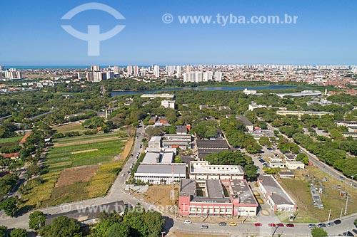 Foto feita com drone do Campus da Universidade Federal do Ceará  - Fortaleza - Ceará (CE) - Brasil