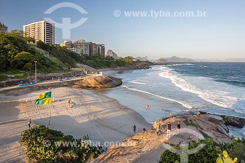 Vista da Praia do Diabo a partir da Pedra do Arpoador  - Rio de Janeiro - Rio de Janeiro (RJ) - Brasil