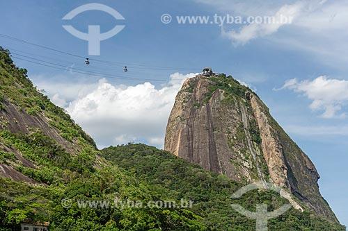 Vista do Pão de Açúcar a partir da Praia Vermelha  - Rio de Janeiro - Rio de Janeiro (RJ) - Brasil