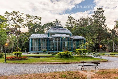 Fachada do Palácio de Cristal (1884)  - Petrópolis - Rio de Janeiro (RJ) - Brasil
