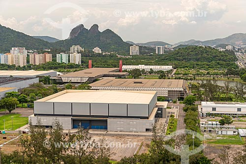 Vista dos pavilhões do Riocentro  - Rio de Janeiro - Rio de Janeiro (RJ) - Brasil