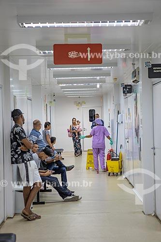 Pacientes aguardando atendimento na Unidade de Pronto Atendimento de Inoã (UPA)  - Maricá - Rio de Janeiro (RJ) - Brasil