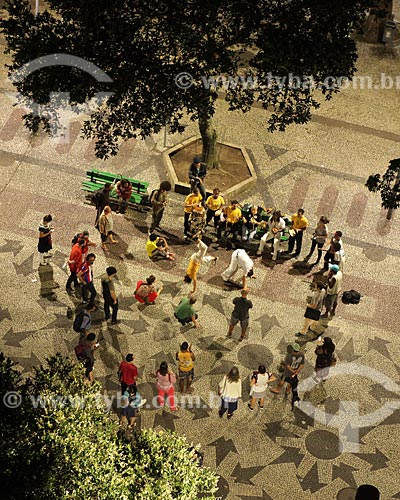 Vista de cima de roda de capoeira na Cinelândia  - Rio de Janeiro - Rio de Janeiro (RJ) - Brasil