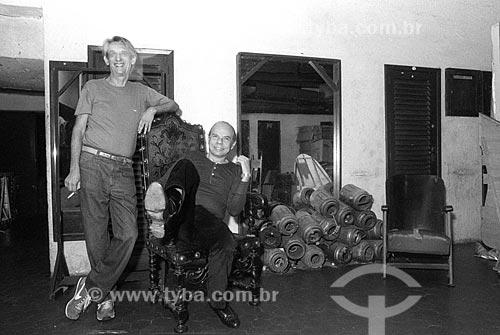 Ivan Albuquerque e Rubens Corrêa - década de 90  - Rio de Janeiro - Rio de Janeiro (RJ) - Brasil