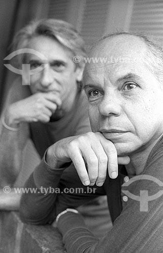 Detalhe de Rubens Corrêa e Ivan Albuquerque ao fundo - década de 90  - Rio de Janeiro - Rio de Janeiro (RJ) - Brasil
