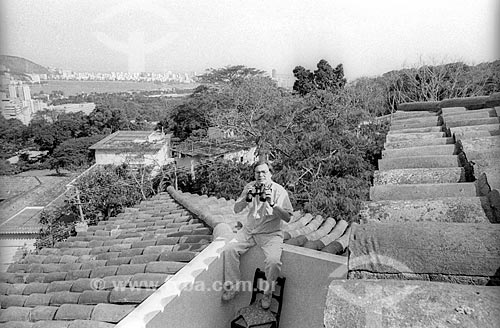 Maestro Tom Jobim em sua casa - década de 80  - Rio de Janeiro - Rio de Janeiro (RJ) - Brasil