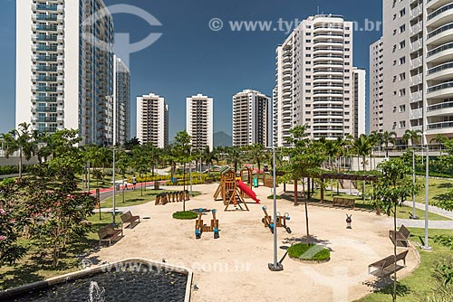 Parque no Condomínio Residencial Ilha Pura Vila dos Atletas - edifícios onde os atletas se hospedaram durante os Jogos Olímpicos - Rio 2016  - Rio de Janeiro - Rio de Janeiro (RJ) - Brasil