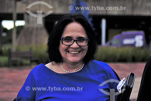 Detalhe de Damares Alves - Ministra da Mulher, da Família e dos Direitos Humanos  - Brasília - Distrito Federal (DF) - Brasil