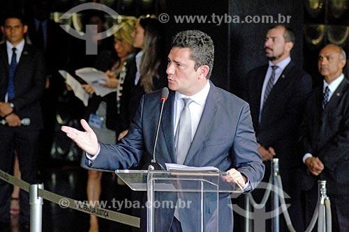 Discurso de Sérgio Moro durante a cerimônia de posse como Ministro da Justiça  - Brasília - Distrito Federal (DF) - Brasil